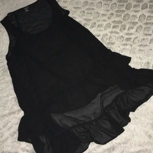 Torrid Short Long Sheer Ruffle Tank